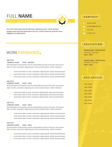 Java developer resume template